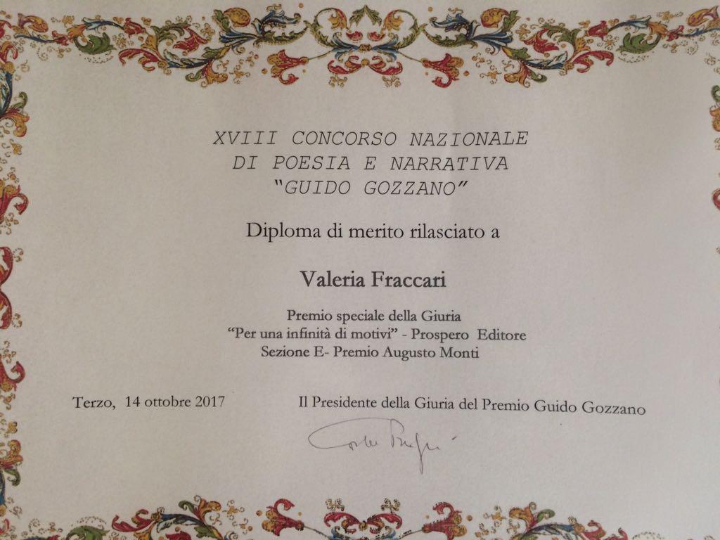 Premio Gozzano 2017 a Valeria Fraccari-image